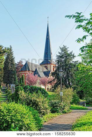 St Martin Church In Linz Am Rhein Of Germany