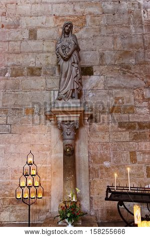 St Mary In Vezelay Abbey In Bourgogne Franche Comte France