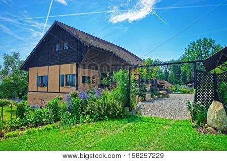 Swiss House At Yverdon Of Jura Nord Vaudois Vaud Switzerland