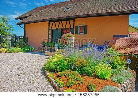 Swiss House In Yverdon Of Jura Nord Vaudois Vaud Switzerland
