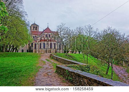 Vezelay Abbey In Bourgogne Franche Comte Region France