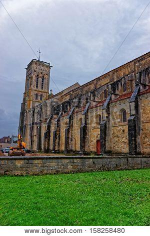 Vezelay Abbey In Bourgogne Franche Comte Region In France