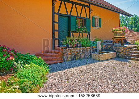 Village House At Yverdon Of Jura Nord Vaudois Vaud Switzerland