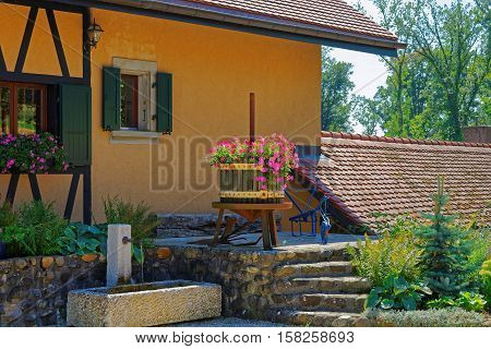 Village House In Yverdon At Jura Nord Vaudois Vaud Switzerland