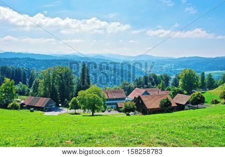 Village In Turbenthal At Winterthur In Zurich Canton Of Switzerland