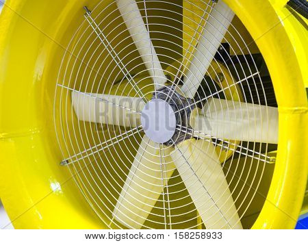 Large fan for industrial purposes object metal