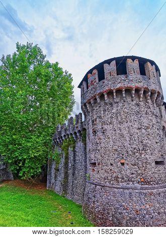 Visconteo Castle At City Center In Locarno Of Ticino Switzerland