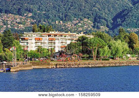 Waterfront Of Ascona In Ticino Of Switzerland