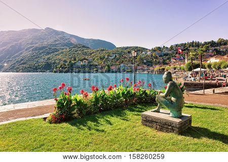 Woman Sculpture At Promenade Of Ascona In Ticino Switzerland