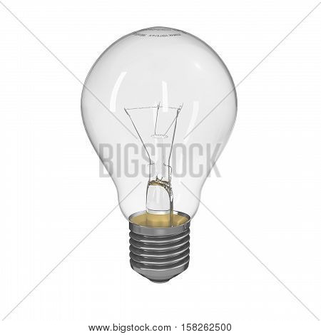 An incandescent light bulb, incandescent lamp or incandescent light globe is an electric light with a wire filament heated to such a high temperature that it glows with visible light. High detailed 3D Rendering.