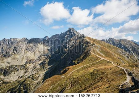 Tatry. Poland and Slovakia boundary autumn landskapes