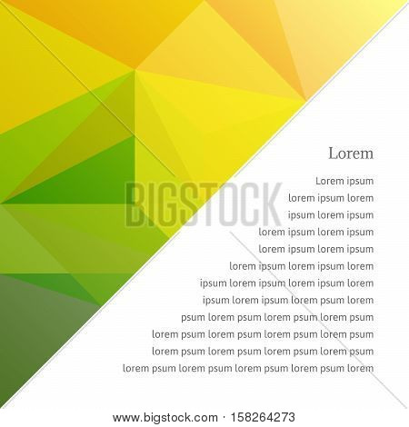 Abstract Background In The Polygonal Style.