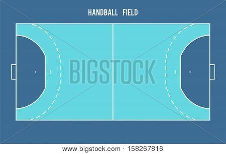 Handball field. Top view eps 10 vector illustration