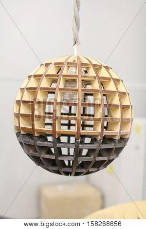 lampshade made of lamp basewood, 3d design