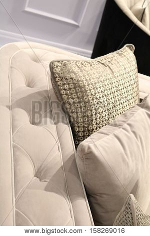 pillows on a sofa - an interior design element