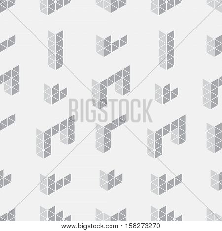 Seamless Background With Geometric Shapes.