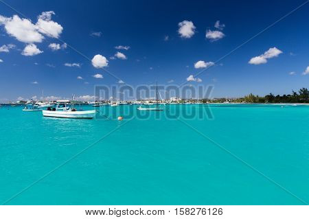 Carlisle Bay in Barbados in the Caribbean