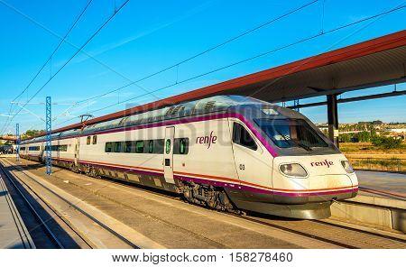 Toledo, Spain - October 7, 2016: High-speed train for Madrid at Toledo railway station