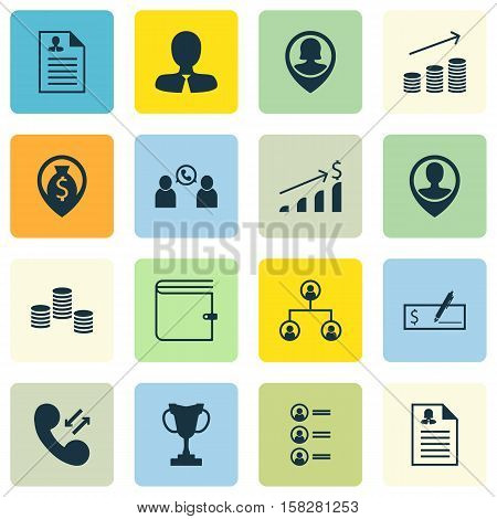 Set Of Hr Icons On Money, Job Applicants And Successful Investment Topics. Editable Vector Illustrat