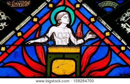 Stained Glass - Saint John The Evangelist