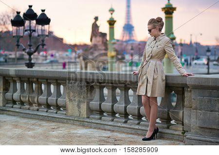 Elegant Parisian Woman In The Tuileries Garden