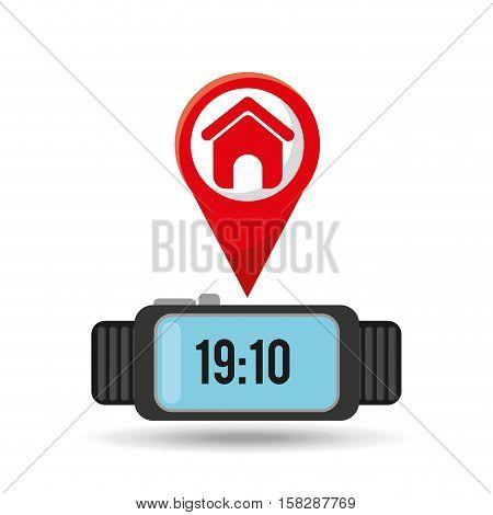 watch homepage app social network vector illustration eps 10