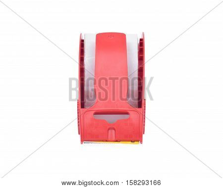 Heavy Duty Shipping Packaging Tape with Dispenser isolated on white background