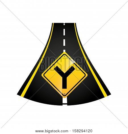 fork road sign concept graphic vector illustration eps 10