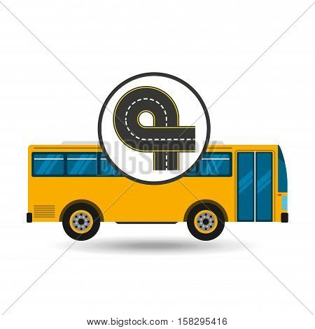 bus transport public endless road vector illustration eps 10
