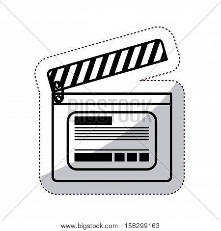 Clapboard icon. Movie film video and cinema theme. Isolated design. Vector illustration