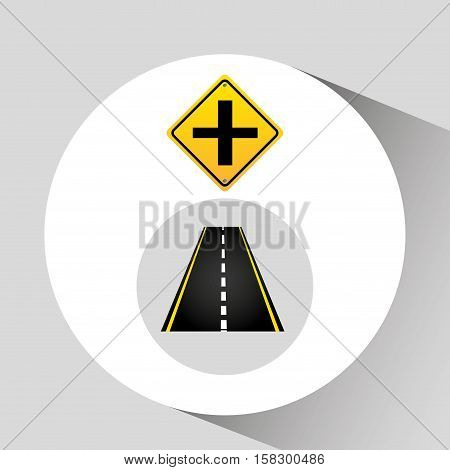 crossroad sign concept graphic vector illustration eps 10