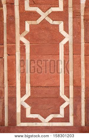 DELHI, INDIA - FEBRUARY 13 : Architecture detail inside the Humayun's Tomb, built by Hamida Banu Begun in 1565-72, Delhi, India on February 13, 2016.
