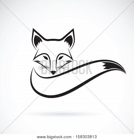 Vector image of a fox design on a white background Wild Animals Vector illustration.