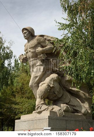 Sculptura Devoted To The Heroism Of The Soviet Marines On Square Of Heroes. Memorial Complex Mamayev