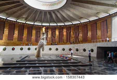 Hall Of Military Glory. Memorial Complex Mamayev Kurgan In Volgograd