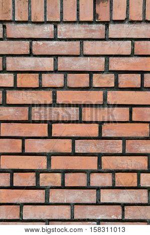 close up old brown brick wall texture