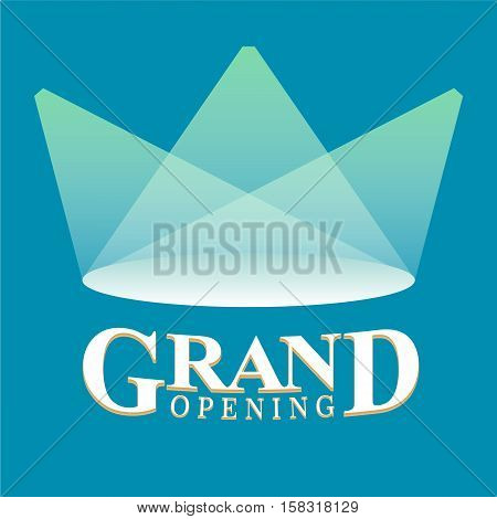 Grand opening vector illustration, banner, background for store, shop, club opening ceremony. Design element with elegant font