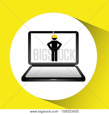under construction web page worker vector illustration eps 10