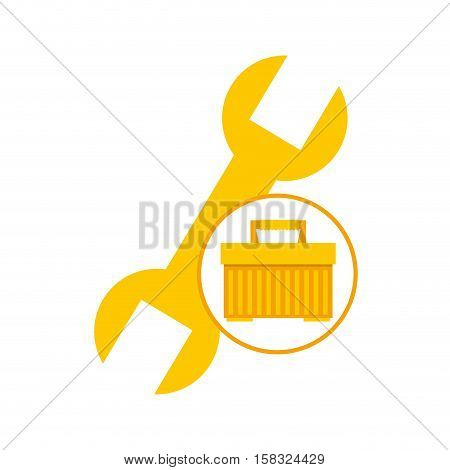 plastic tool box wrench icon vector illustration eps 10