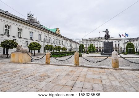 Hdr Palac Prezydencki Meaning Presidential Palace In Warsaw