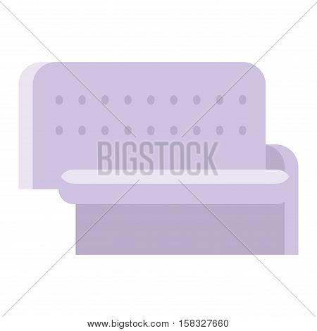 Gray couch sofa isolated home seat. Style interior comfortable furniture isolated fashion texture decor. Contemporary room home seat color luxury vector single elegance armchair.