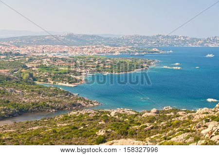 View from bear's stone to Palau Sardinia