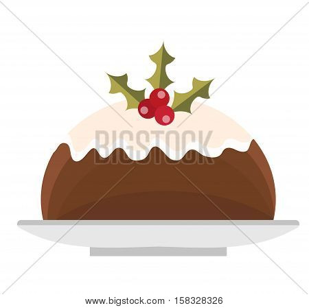 Pudding vector icon. Isolated on white background