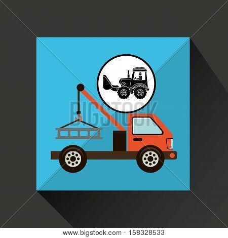 construction truck concept car tow design vector illustration eps 10
