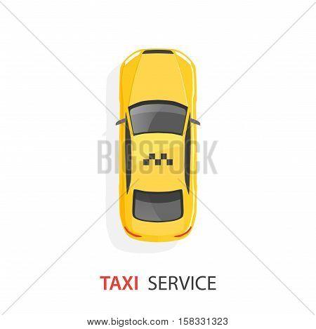 Yellow taxi car. Taxi service. Vector illustration eps 10