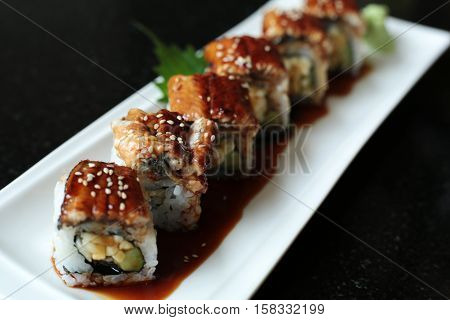 japanese food menu - Unagi eel Sushi