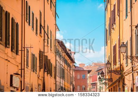 Old beautiful empty streets in Rome, Italy