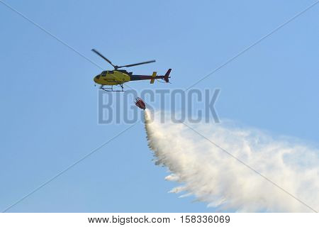 Suppression of the fires by means of the helicopter