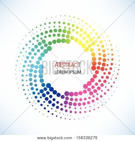 Abstract Doted Curve Shaped And Colorful Twist Shape Vector