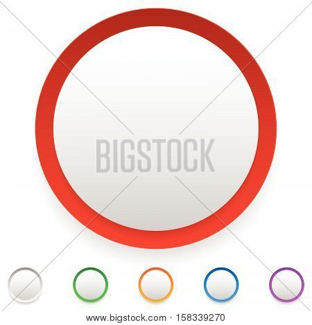 Circle Button, Circle Icon Set With Empty Space